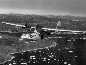 Consolidated PBY Catalina - A radar-equipped PBY-5A from VP-6(CG) over Greenland, in 1945.