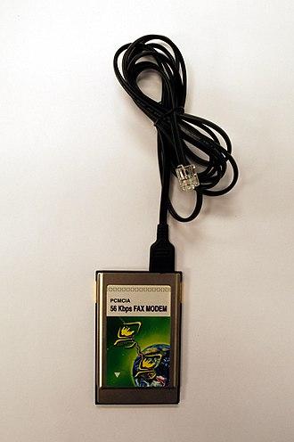 Fax modem - Image: PCMCIA V.90 56Kbps Modem