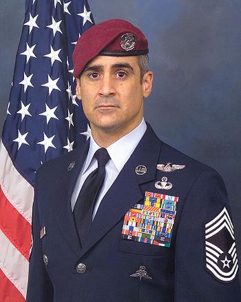 3527fe3e37399 Air Force Pararescueman wearing his maroon beret