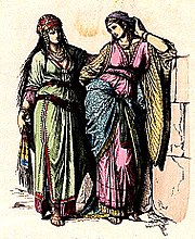 Jewish noblewomen in ancient Judah.