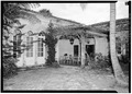 PORCH AT SOUTHWEST CORNER OF PATIO - McAneeny-Howerdd House, 195 Via Del Mar, Palm Beach, Palm Beach County, FL HABS FLA,50-PALM,8-10.tif