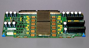 POWER3 - Dual 375 MHz IBM POWER3-II processors on the CPU module of a RS/6000 44P 270.