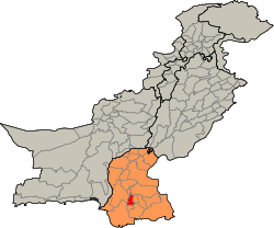Pakistan - Sindh - Hyderabad district.svg