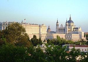 Palacio (Madrid) - Royal palaca and the Almudena Cathedral