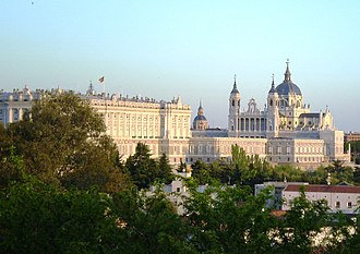Palacio (Madrid) - Royal palaca and the Almudena Cathedral