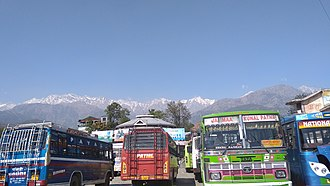 Palampur, Himachal Pradesh - Buses at Palampur Bus Station