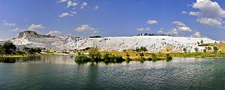 Pamukkale natural site in Denizli Province in southwestern Turkey