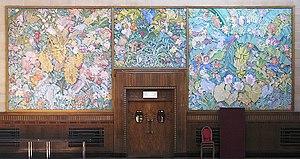 Brangwyn Hall - Image: Panels at the rear of Brangwyn Hall geograph.org.uk 1491172