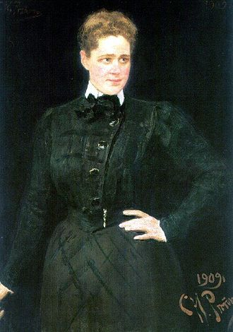 Sofia Panina - Ilya Repin's portrait of Countess Panina (1909)