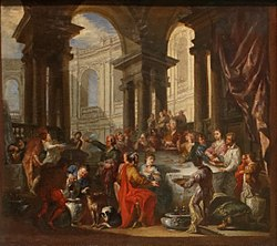 Giovanni Paolo Panini: Feast Given under an Ionian Porch