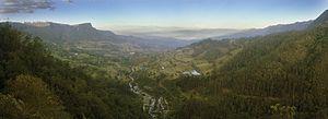 San Antonio del Tequendama - Panorama of the Tena Valley and San Antonio del Tequendama
