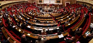 Palais Bourbon - The National Assembly in session in the Palais Bourbon