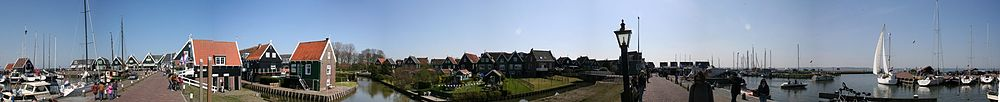Panorama van de haven van Marken (2010)