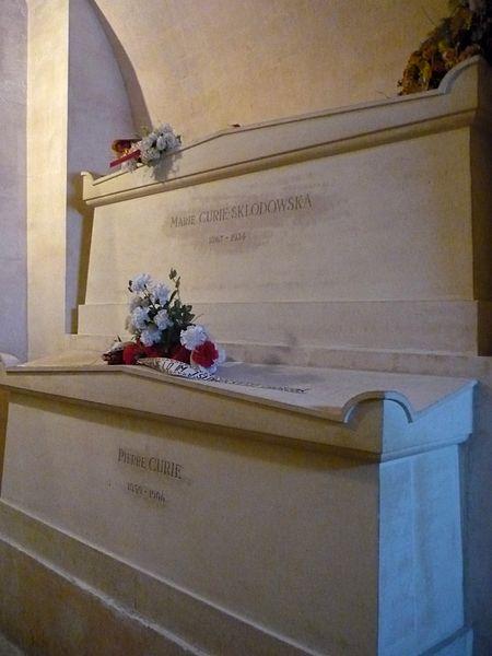 Tombes de Pierre et Marie Curie, Panthéon, Paris, France