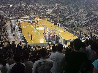 P.A.O.K. - P.A.O.K. Sports Arena, home ground of basketball and volleyball teams