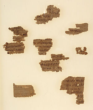 Oedipus Rex - P. Oxy. 1369, a fragmentary papyrus copy of Oedipus Rex, 4th century BC.