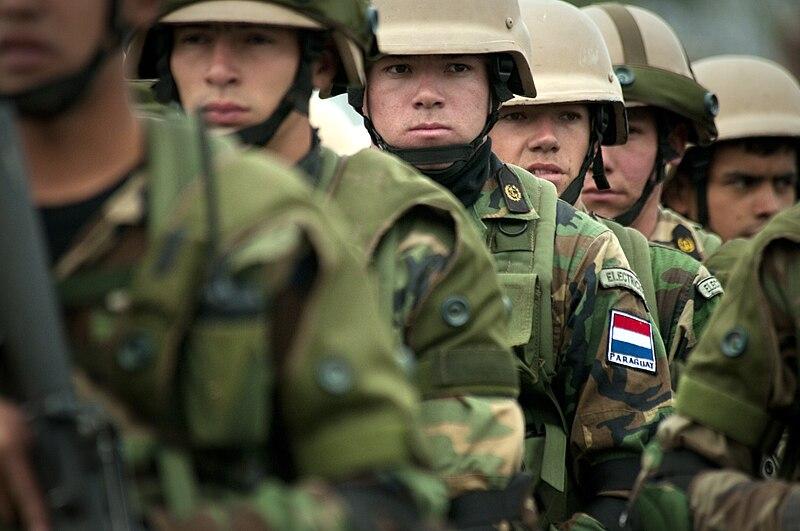 Paraguayan marines at Ancon Marine Base 2010-07-19.JPG