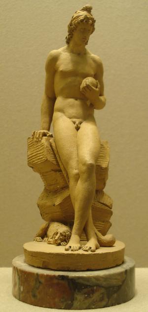 Jacques-Edme Dumont - Dumont's terracotta statuette of the mythological Paris, c. 1795.