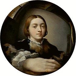 Parmigianino: Autorretrato en un espejo convexo