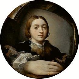 Autoportrait au miroir, 1524, Vienne, Kunsthistorisches Museum