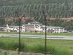 Paro Airport from outside the fence, July 2016 02.jpg