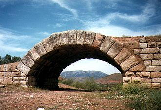 Province of Cáceres - Part of the Roman bridge at Alconétar, Caceres province