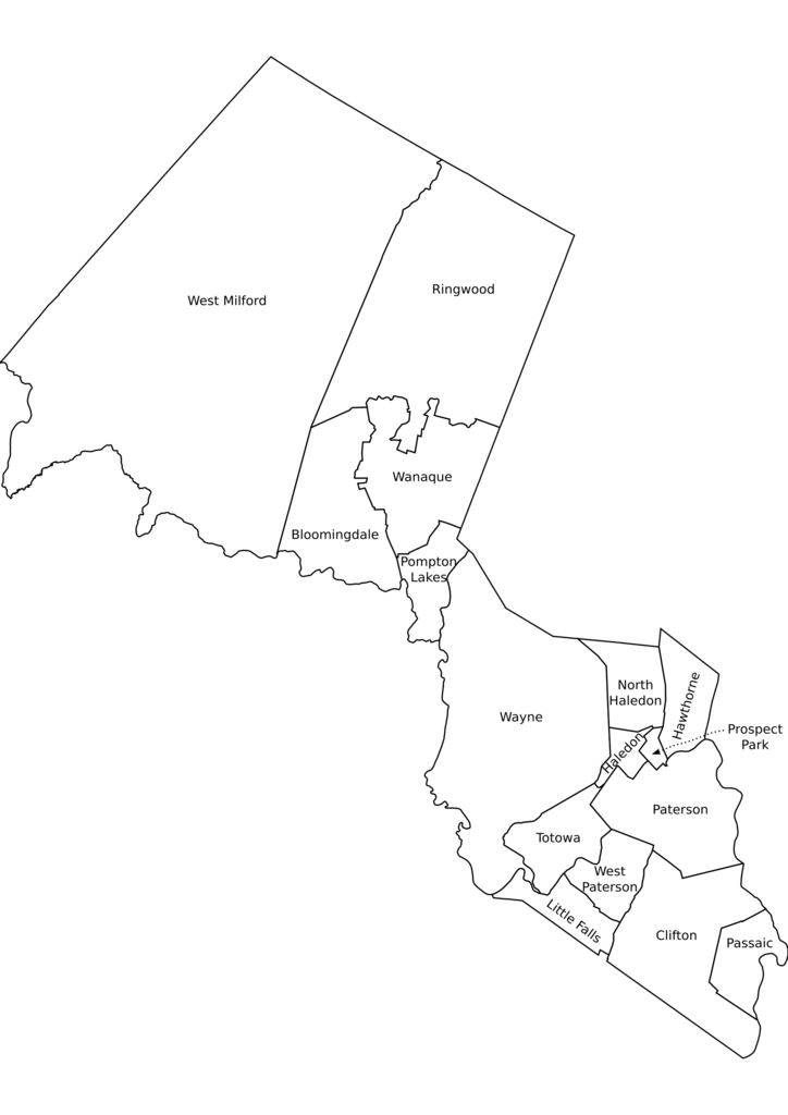 Image Result For Map Of Passaic County