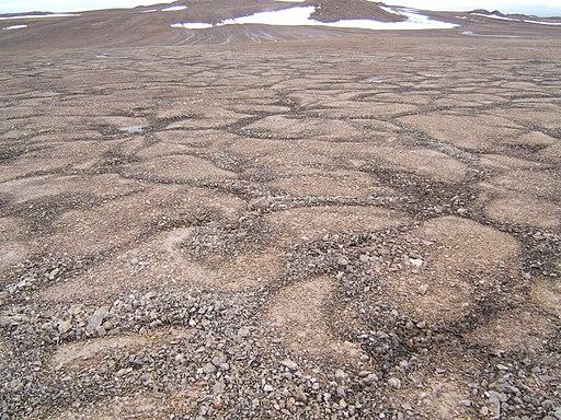 Patterned ground devon island
