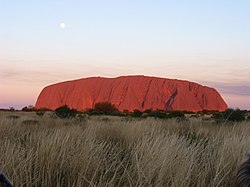 Uluru in the Northern Territory.