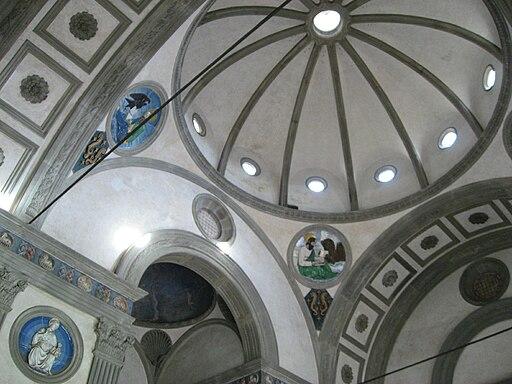 Firenze, interno della cappella Pazzi