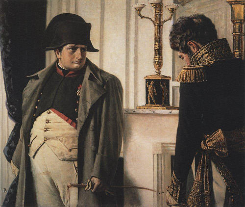 Napoleon and General Lauriston -- Peace at all costs! by Vasily Vereshchagin. Peaceatallcosts.JPG