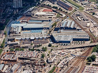 Ruston (engine builder) - Pelham Works, Lincoln next to the A15