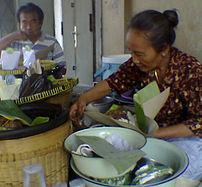 Gudeg seller in Surakarta