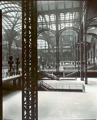 Pennsylvania Station (New York City) - Penn Station, interior, 1935–1938