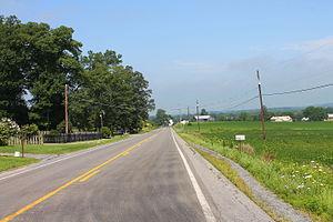 Pennsylvania Route 45 - Pennsylvania Route 45 in Liberty Township, Montour County