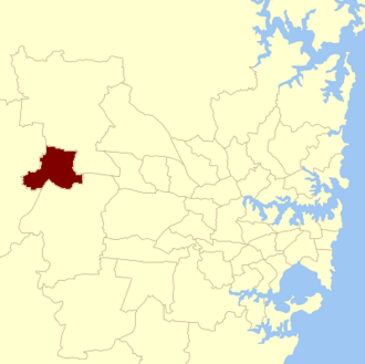 Penrith state by-election, 2010 - Location in New South Wales
