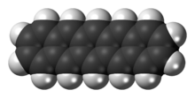 Space-filling model of the pentacene molecule