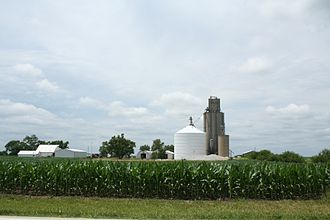 Patton Township, Ford County, Illinois - Perdueville grain elevator in section 9 of the township.
