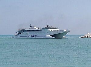 High-speed craft - Pescara Jet - a high-speed catamaran by SNAV