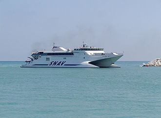 High-speed craft - Pescara Jet, a high-speed catamaran by SNAV