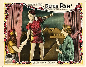 Peter Pan (1924 film) - L-R: Mary Brian, Betty Bronson and Esther Ralston