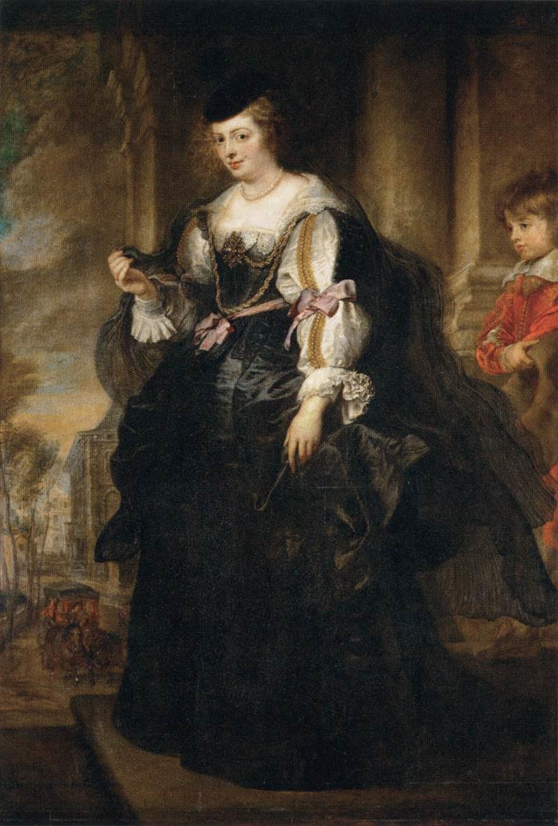 Peter Paul Rubens - Helena Fourment with a Carriage - WGA20391