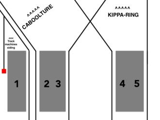 Petrie railway station - A trackplan of Petrie station.