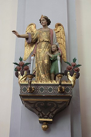 Parish church Saint Oswald: Guardian angel Loc...