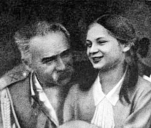 Jadwiga Piłsudska - Marshal Piłsudski with  daughter