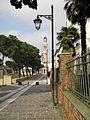 Piazza XX Settembre, scorcio con campanile chiesa della rotonda (Rovigo).JPG