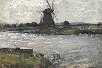 Piet Mondriaan - Oostzijdse mill viewed from dock at Landzicht farm - A343 - Piet Mondrian, catalogue raisonné.jpg