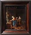 Pieter cornelisz. van slingelandt, interno di cucina, olanda 1659 ca.jpg