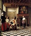 Pieter de Hooch - A Woman Drinking with Two Men - WGA11694.jpg
