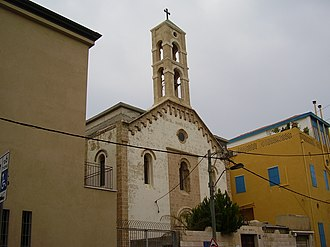 Ajami, Jaffa - The Maronite Church in the middle of Ajami neighborhood
